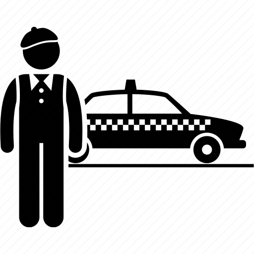 Cab, cabdriver, chauffeur, operator, taxi, taxi driver, transport icon - Download on Iconfinder