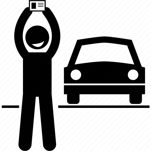 driver, driving, license, passed, success, successful, test icon