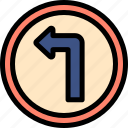 driving, left, school, sign icon