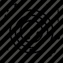 aerial, aircraft, drone, radar, radius icon