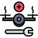 copter, drone, quadrocopter, support, technical, technology icon