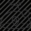 airspace, checkmark, drone, location, uav