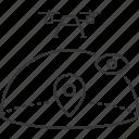 airspace, drone, eye, location, uav