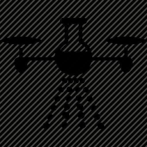 aerosol, chemical, copter, drone, pesticide, quadcopter, spray icon