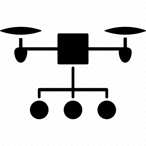 copter, distribution, drone, marketing, nanocopter, quadcopter, scheme icon