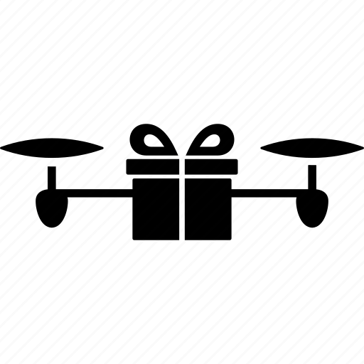 copter, delivery, drone, gift, nanocopter, present, quadcopter icon