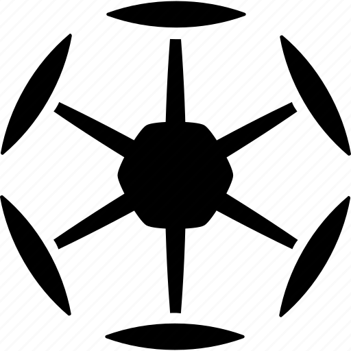 airdrone, drone, hex copter, hexacopter, multicopter, multirotor, nanocopter icon