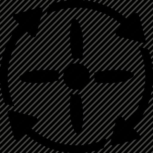 air drone, engine, propeller, rotation, rotor, screw, turbine icon