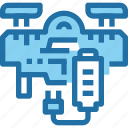 battery, delivery, drone, flying, robot, transport, vehicle icon