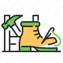 footwear, service, shoe repairs, tools icon