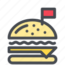 burger, colored, if icon