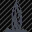 building, dubai, hotel, restaurant, service icon