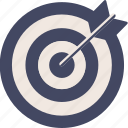 duotone, center, target, aim, goal, arrow, circle
