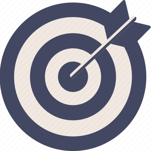aim, arrow, center, circle, duotone, goal, target icon