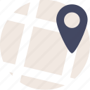 direction, duotone, location, map, marker, navigate, navigation, pin, place, tag icon