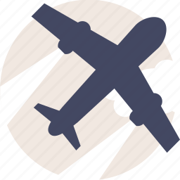 air, airplane, delivery, duotone, flight, fly, plane, traffic, transport, transportation, travel icon