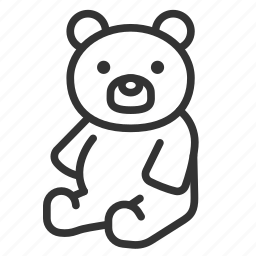 bear, doll, teddy, toy icon