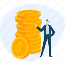 banking, finance, interest, investment, money, payment, profit icon