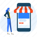 e-commerce, m-commerce, mobile, shop, shopping, smartphone, store