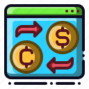 convert, currency, money, online, transaction icon