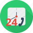 badge, hour, open, service, time, work icon