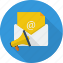 advertising, business, concept, email, email marketing, marketing, media icon