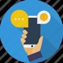 concept, e-commerce, marketing, mobile, mobile marketing, service, technology icon
