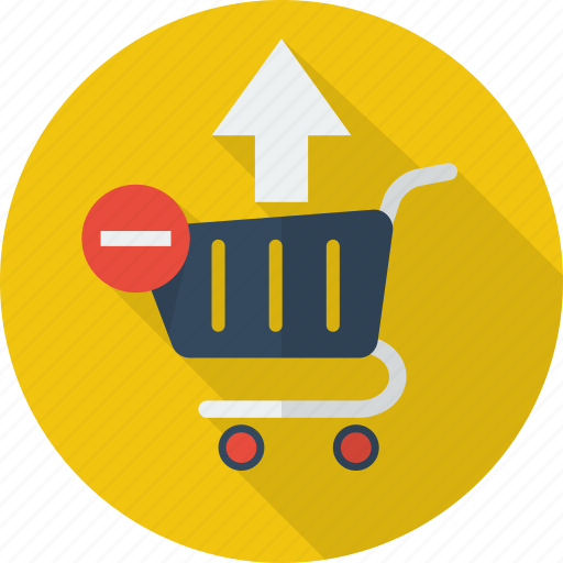 basket, delete, from cart, illustration, order, remove, remove from cart icon