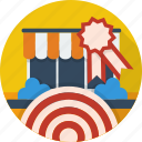 concept, idea, market, strategy, success, target, target market icon