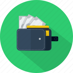 cash, money, object, pay, wallet icon
