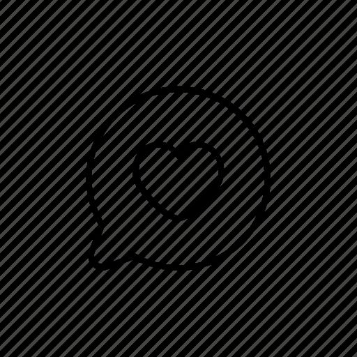 bubble, chat, favorite, favourite, heart, love icon