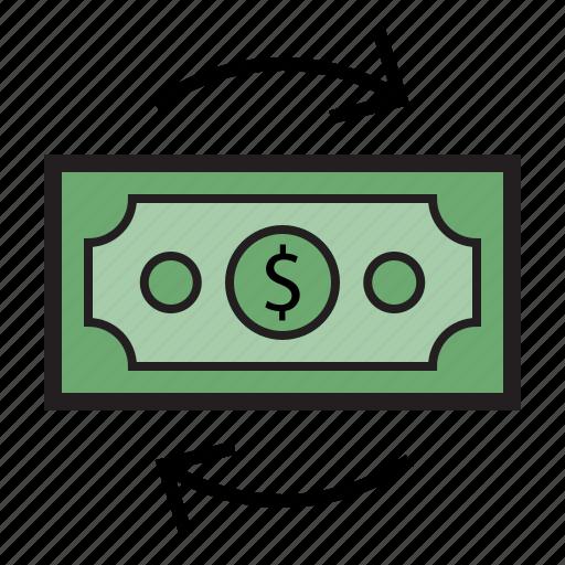bank, cash, dollar, finance, money, payment, transaction icon