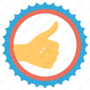 good quality, guaranteed, quality assurance, recommended, thumbs up icon