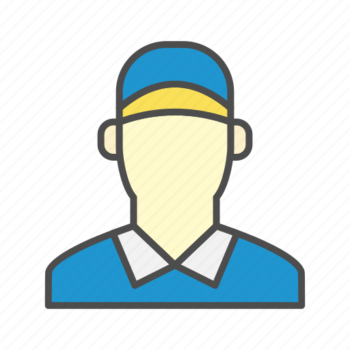 Courier, Delivery, Post, Post Man Icon