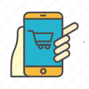 app, ecommerce, mobile, mobile shopping, smartphone icon