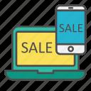 discount, electronics, gadget, sale, tech icon