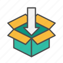open, order, pack, packaging, parcel icon