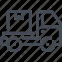 box, commerce, delivery, e, fast, van icon