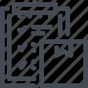 box, clipboard, commerce, delivery, e, plan, task icon