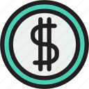 cent, cent icon, coin, coins, currency, dollar icon