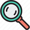 magnifying, magnifying glass, search, search icon, zoom, zoom icon icon