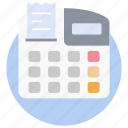 card payment service, cash register, cash till, payment device, payment machine, pos icon