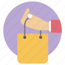 buying, commerce, hand bags, purchasing, shopping, shopping bags, tote bags icon