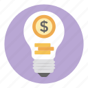 business creativity, business idea, creative idea, financial idea, money idea icon