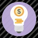 business creativity, business idea, creative idea, financial idea, money idea icon