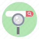 address bar, ecommerce, internet searching, search bar, search url, seo icon