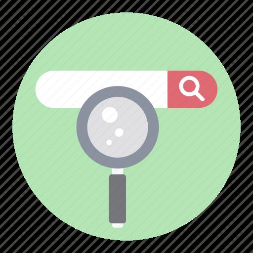 address bar, ecommerce, internet searching, search bar, search url, seo icon