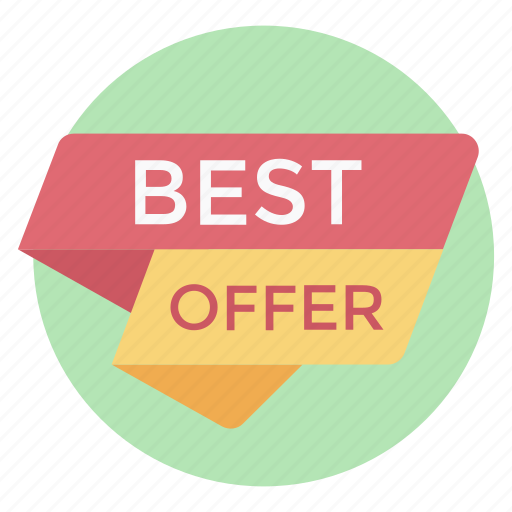 best offer, offer badge, sales banner, sales ribbon, sales tag, shopping label icon