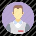 customer dealer, sales assistant, salesman, salesperson, shopkeeper icon
