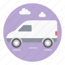automobile, cargo service, delivery transport, delivery van, wagon icon